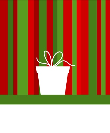 Christmas background with present. Vector illustration