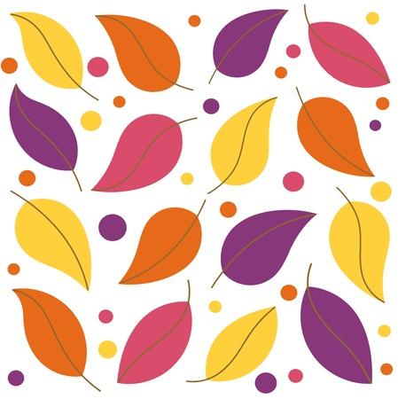 Colorful leaf background. Vector illustration Stock Vector - 10803148