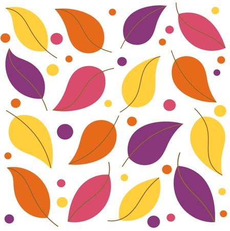 copyspace: Colorful leaf background. Vector illustration