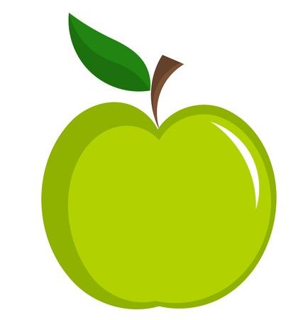 グリーンアップル ベクトル イラスト