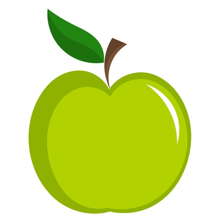 apple isolated: Green apple vector illustration