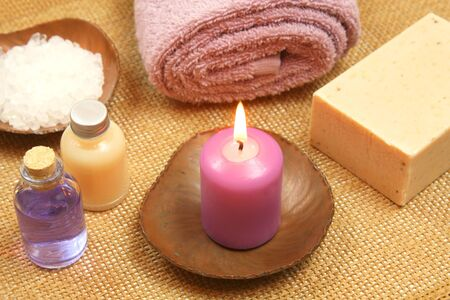 Health care and beauty treatment objects in spa resort photo