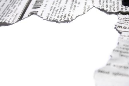 oude krant: Oude torned krant grens Stockfoto