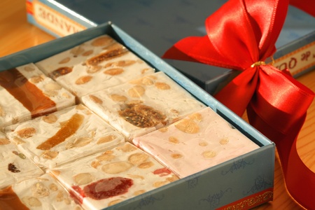 turkish delight: Sweet gift box - nougats with dried fruits