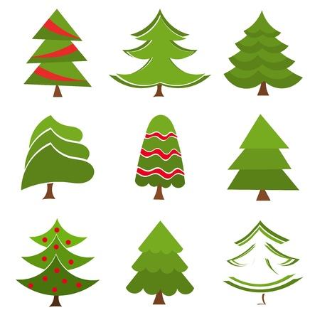 spruce: Colecci�n de �rboles de Navidad. Ilustraci�n vectorial