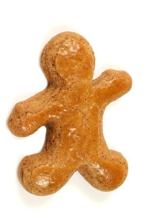 Gingerbread man isolated photo