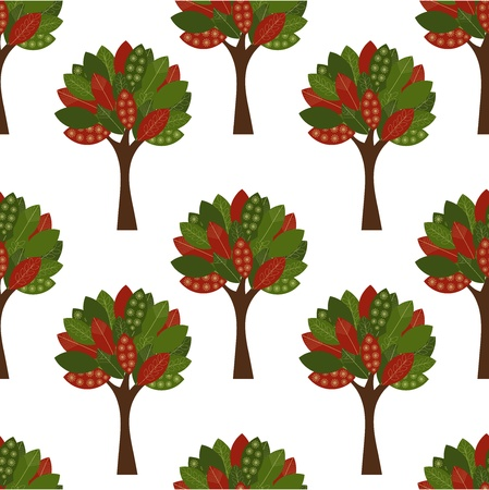 Autumn trees seamless pattern Stock Vector - 11587977
