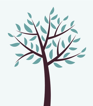 Abstract winter tree Vector