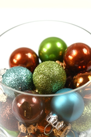 Christmas glass baubles photo