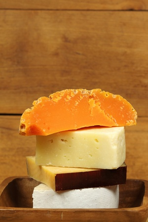Hard cheese composition photo