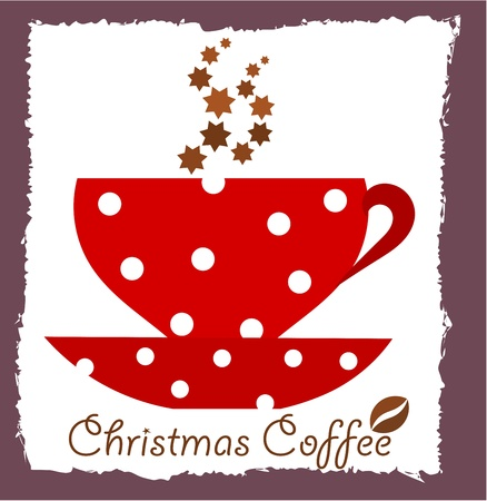 Christmas coffee.  Vector