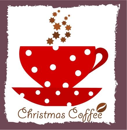 Christmas coffee.  Vector