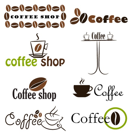 Set of coffee label designs.  Vector