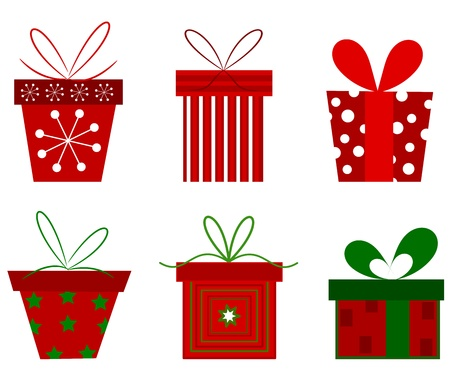 ornamented: Christmas presents collection.  Illustration