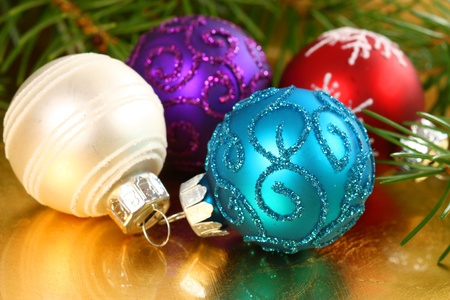 Various colors of Christmas balls - decoration Stock Photo - 11588062