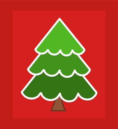 Christmas tree card design.  Vector