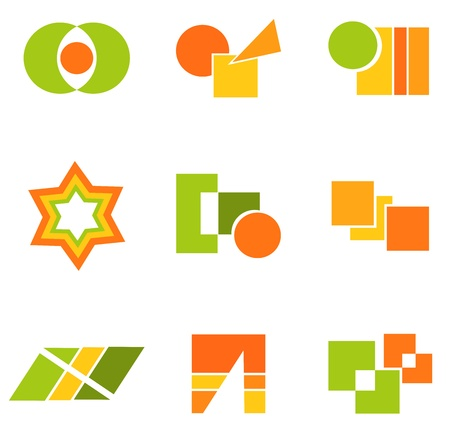 Geometry icons and symbols.  Vector