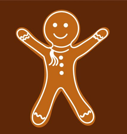 Gingerbread man.  Vector