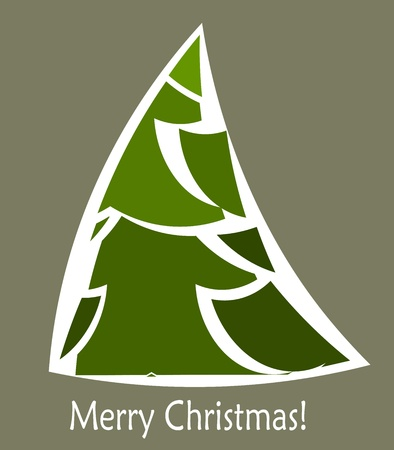 Abstract Christmas tree card design. illustration Vector