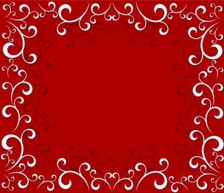 stilish: Christmas ornate frame background. illustration