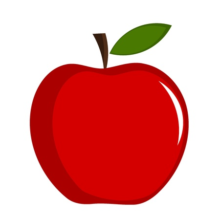 apple red: Red apple - illustration