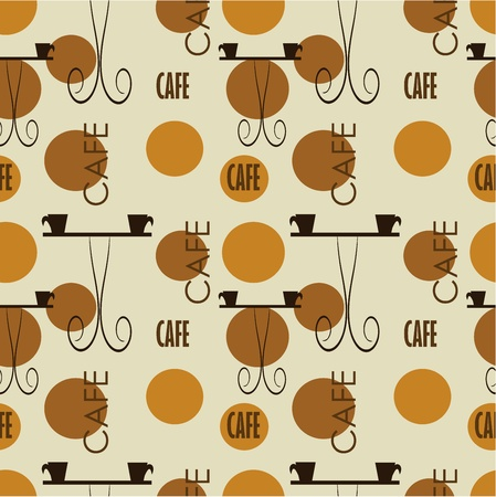 Cafe seamless texture. pattern Stock Vector - 12119499