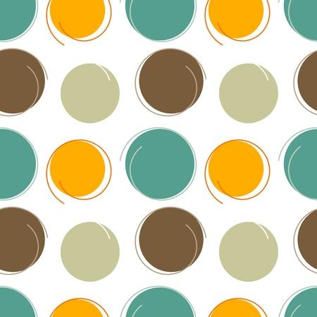 retro circles: Abstract modern geometric seamless pattern. design