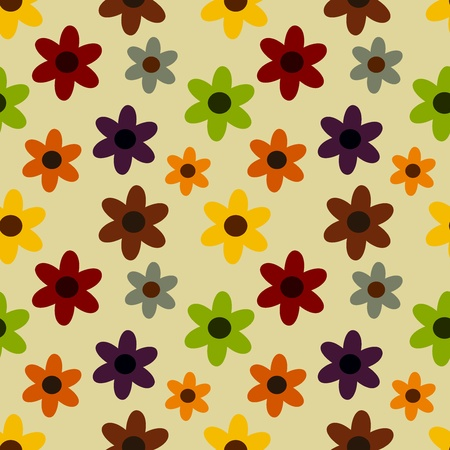 Autumn flowers - seamless stylish pattern Stock Vector - 12119497