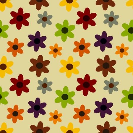 autumn flowers: Autumn flowers - seamless stylish pattern Illustration