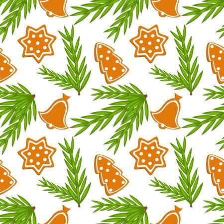 Christmas cookies seamless texture. illustration Stock Vector - 12119504