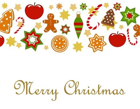 lebkuchen: Weihnachten Hintergrund. Abbildung Illustration