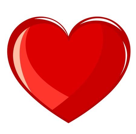 hartje cartoon: Rood hart - illustratie
