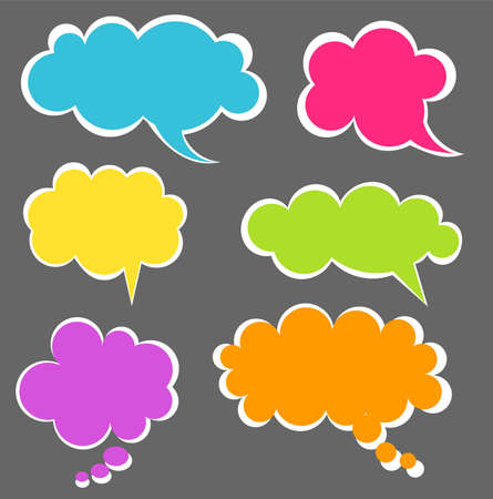 Set of colorful speech bubbles. illustration Stock Vector - 12486968