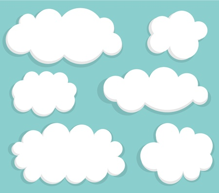 Blue sky and clouds. illustration Vector