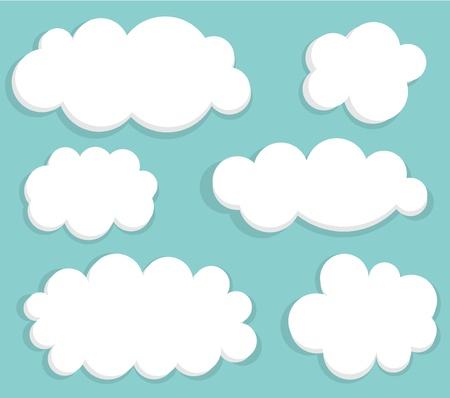 cartoon clouds: Cielo azul y nubes. ilustraci�n