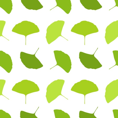 Ginkgo leaves - seamless pattern Vector