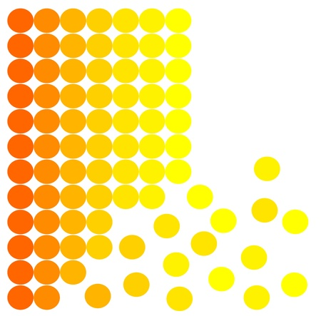 detach: Original background made of orange and yellow spots Illustration