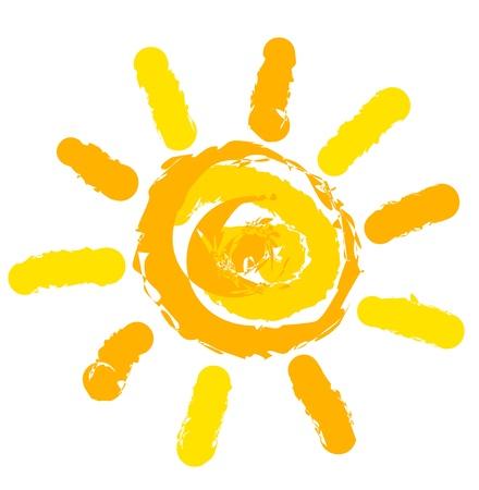 raggi di luce: Simbolo del sole illustrazione