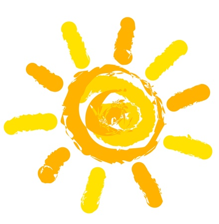 luz solar: Sun symbol illustration
