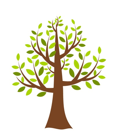 Tree illustration over white Vector