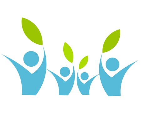 familia unida: Concepto de Eco familiar - ilustraci�n vectorial