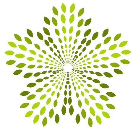 Green plant abstract symbol. Vector icon