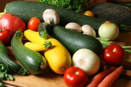 Fresh raw natural vegetables photo
