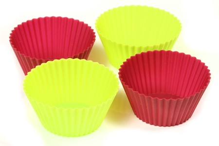 silicone: Cupcake bakeware - silicone cups Stock Photo