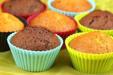 black mold: Chocolate and lemon cupcakes Stock Photo