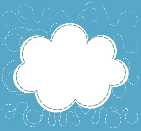 Cloud over blue sky. Vector illustration Vector