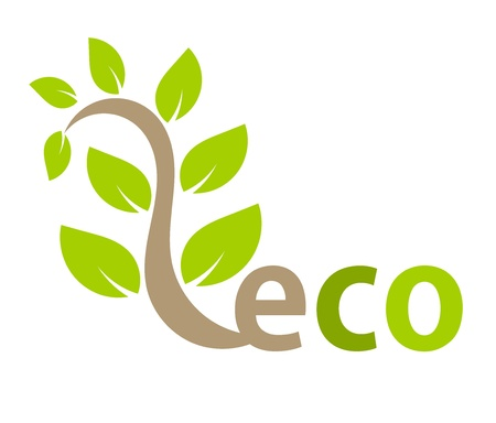 Eco symbol plant. Vector illustration Stock Vector - 12935252