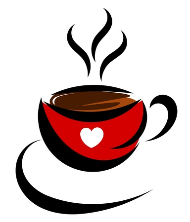 Coffee cup. Love vector illustration Stock Vector - 12935250