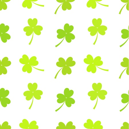 Green clovers - seamless pattern Vector