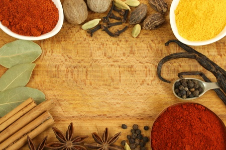 Spices frame Stock Photo - 12935277